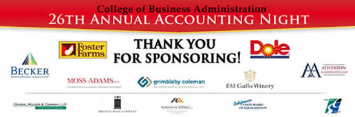 Accounting Night Fall 2013 Sponsors