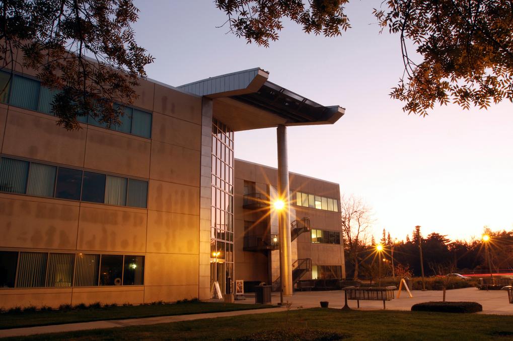 MSR building at sunset