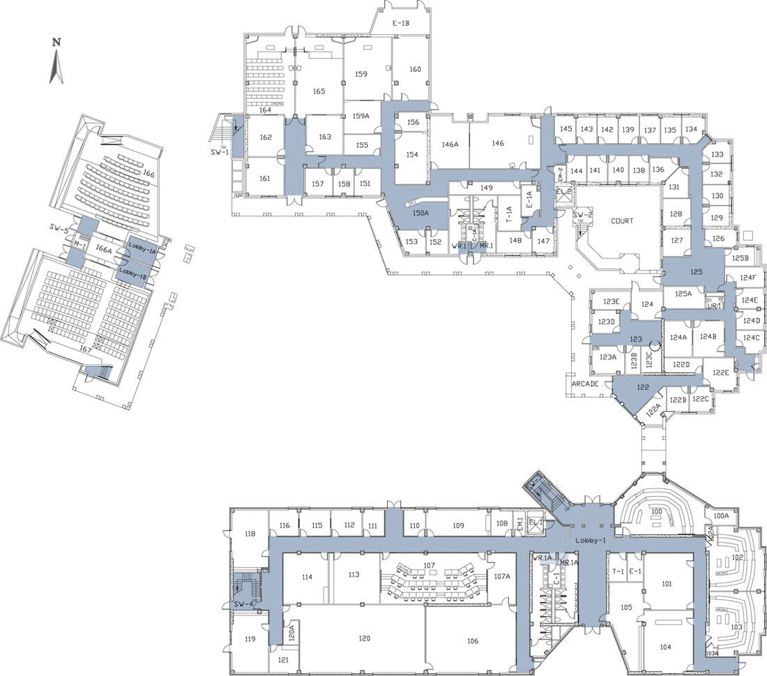 1st Floor on Recreation Center Building Floor Plan