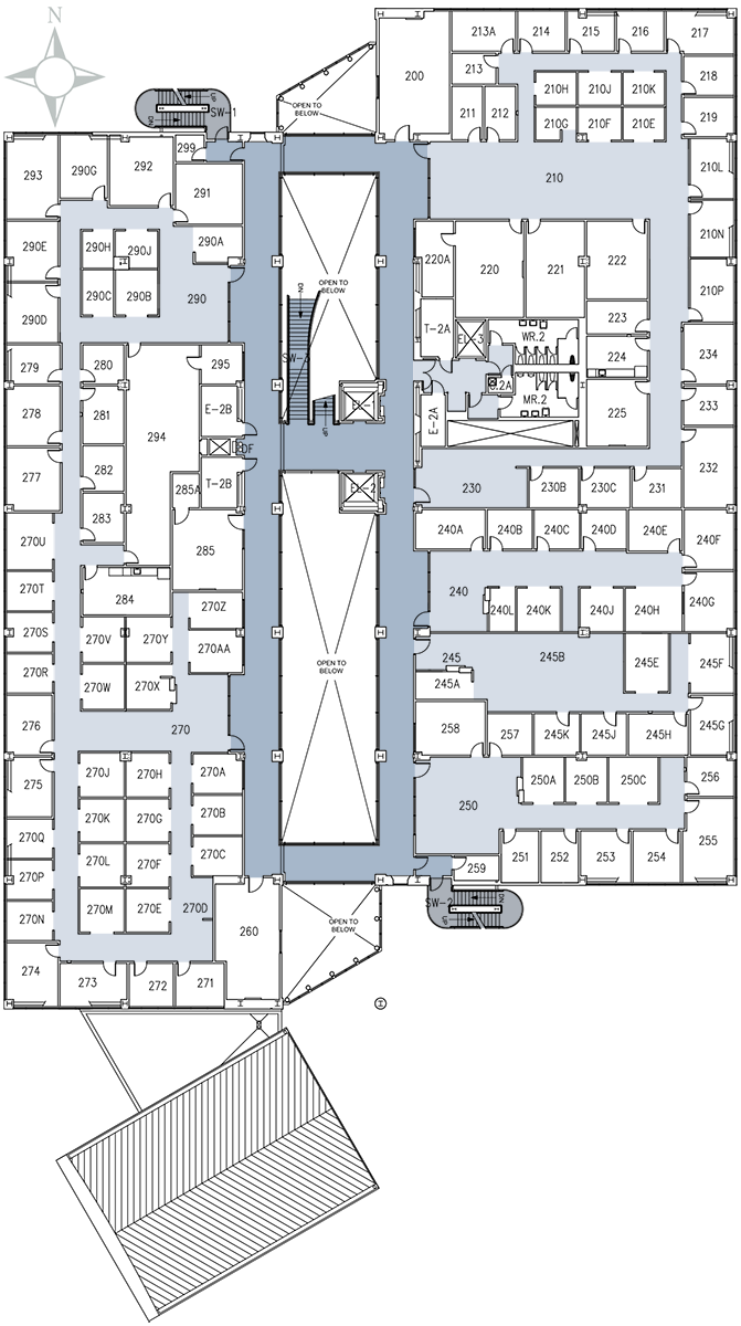 2nd Floor on Recreation Center Building Floor Plan