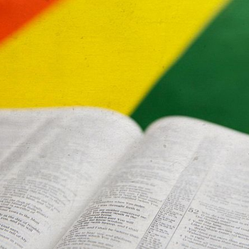 Bible and the rainbow flag