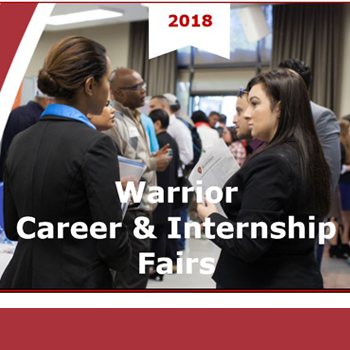 Warrior Career and Internship Fair, Tuesday February 27 11:00 am - 3:00 pm Wednesday February  28th 11:00 am - 3:00 pm