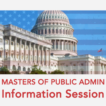 Masters of Public Admin Information Session