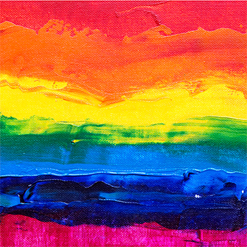 pride colors on painting