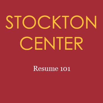 resume 101 workshop