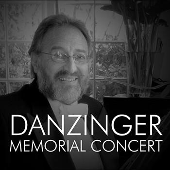 graphic with text: Danzinger Memorial Concert