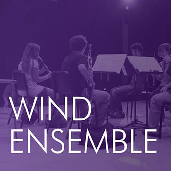 graphic with text: Wind Ensemble