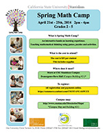 Spring Math Camp Flyer