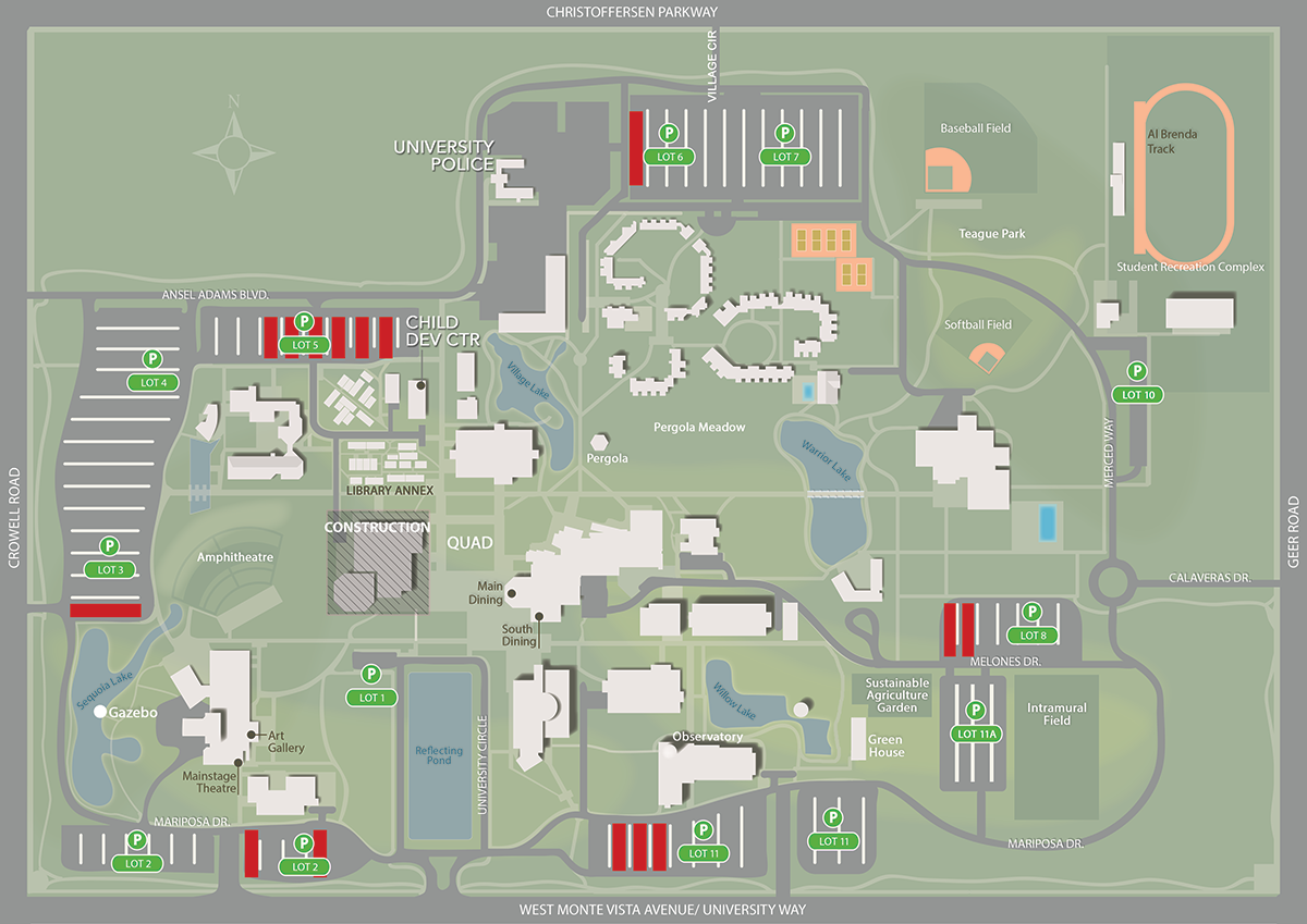 Faculty Staff Parking Locations