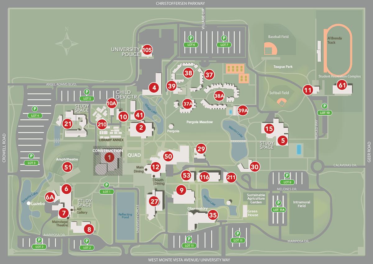 csu map of campuses Campus Map Floor Plans California State University Stanislaus csu map of campuses