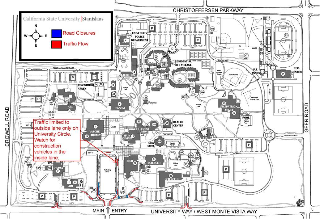 university roadway closures april 21 25 2014 california