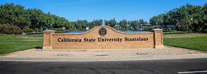 University main entrance sign
