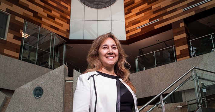 Monica Nino, who earned her MBA at Stan State, has risen to the post of San Joaquin County Administrator.