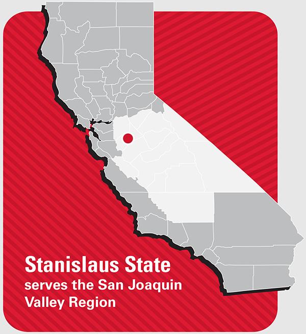 Stanislaus State serves the San Joaquin Valley Region