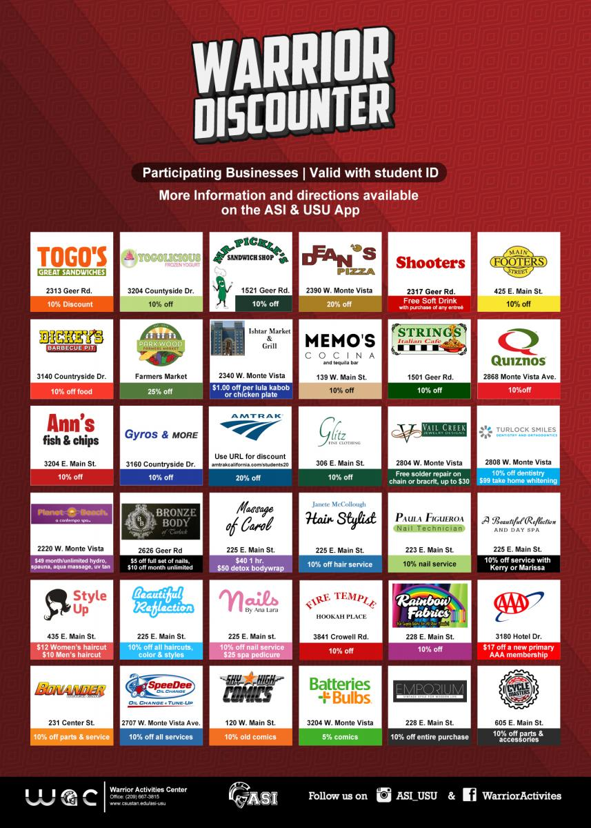 Warrior Discounter