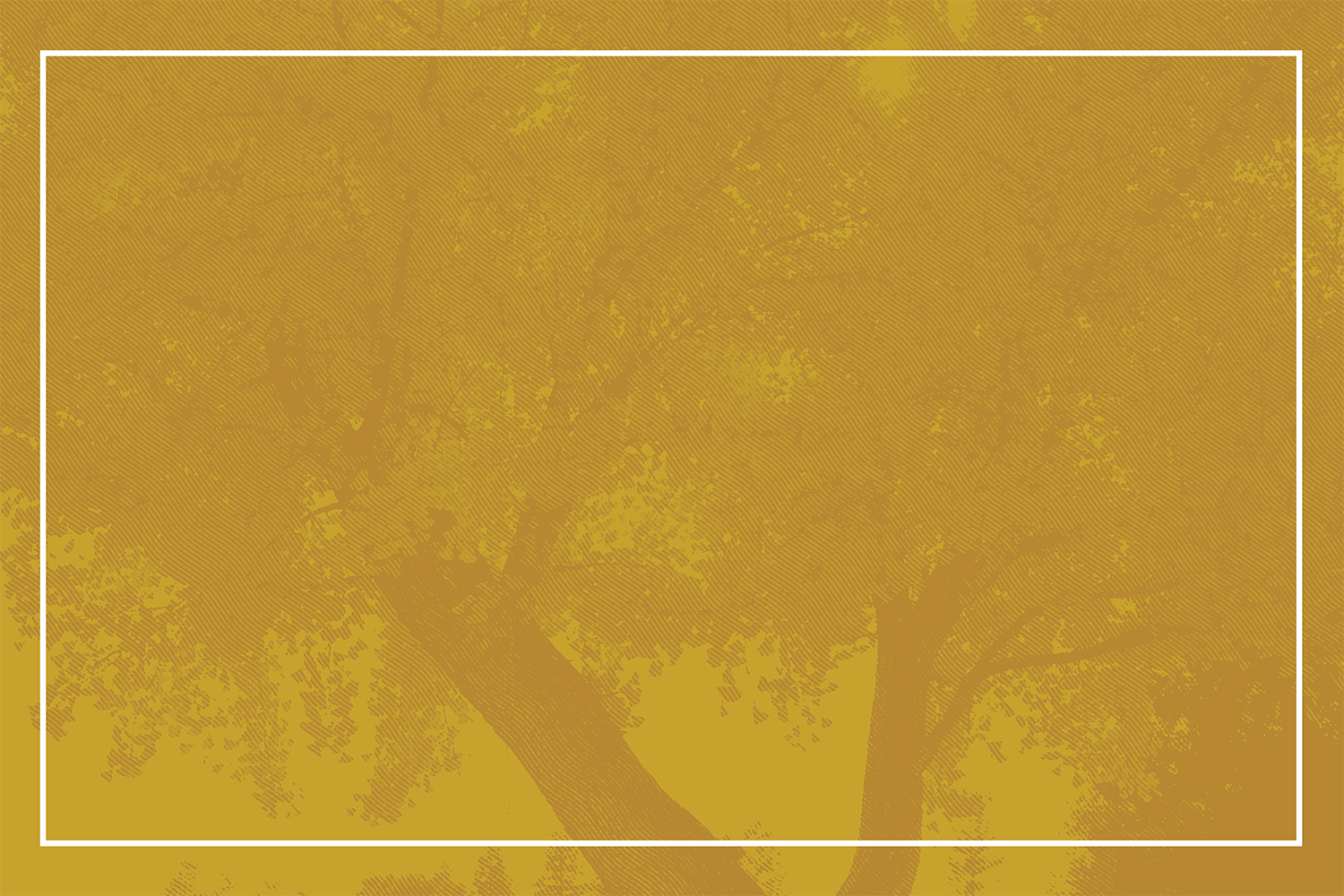 Trees on yellow background.