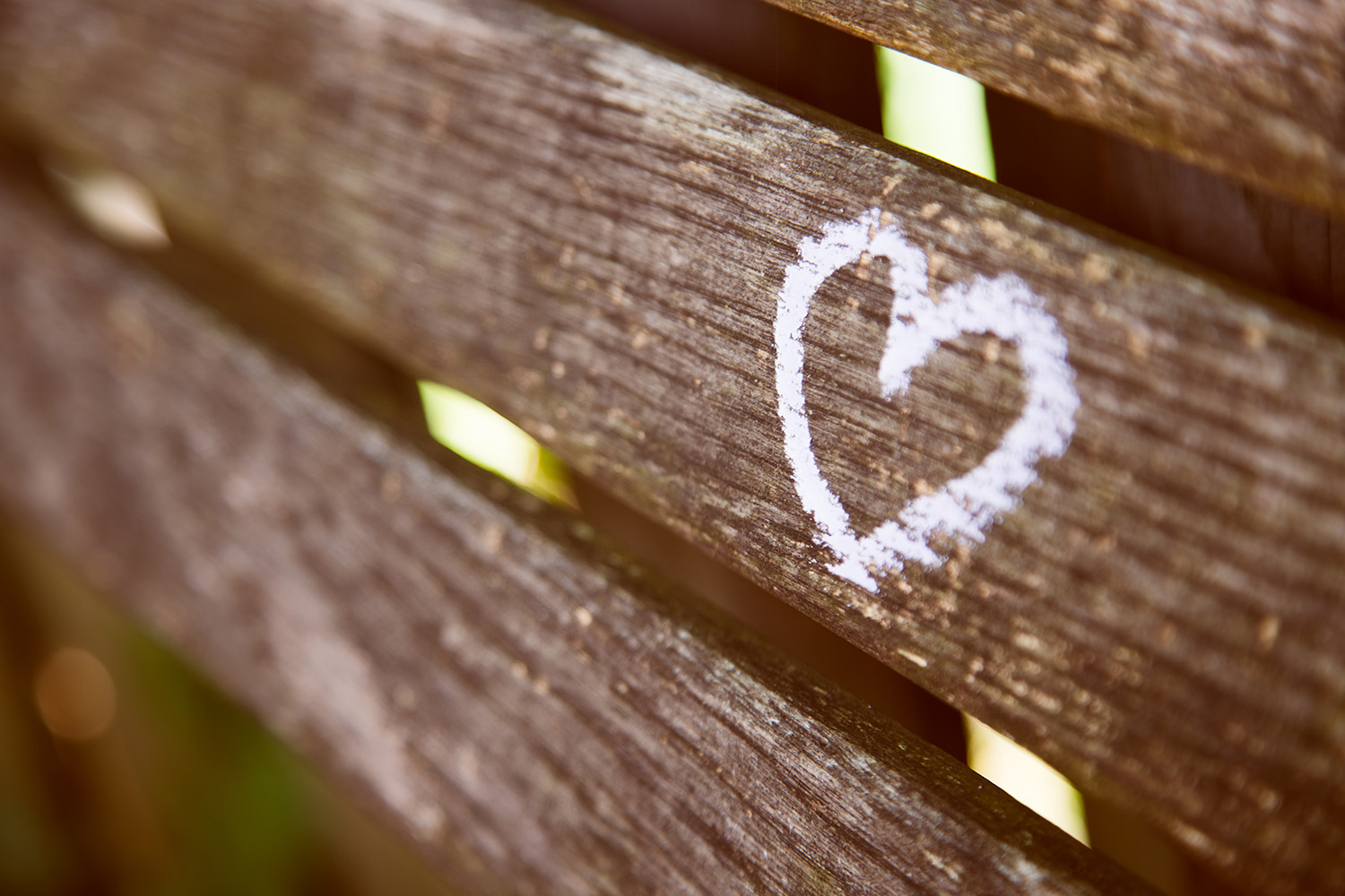 heart on fence