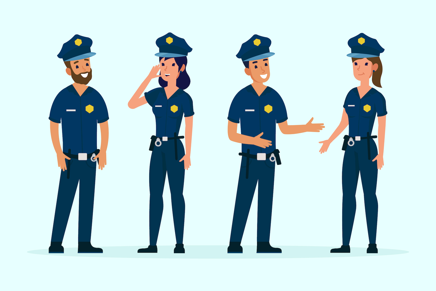 Animation of police officers.
