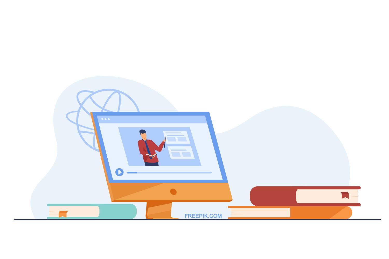 illustration of virtual presentation