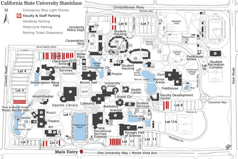 faculty staff parking california state university stanislaus