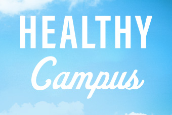 graphic with text: Healthy Campus