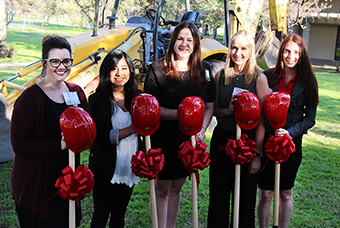 group at groundbreaking ceremony