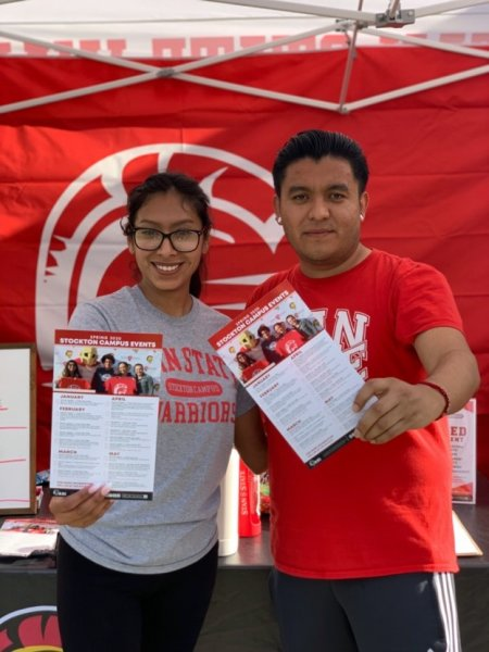 Students with flyers