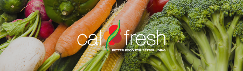 CalFresh Banner with vegetables.