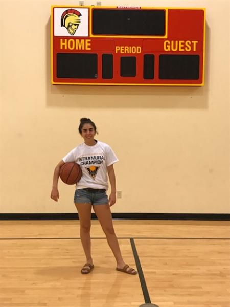 3-point free throw contest Katherine Martinez Champion
