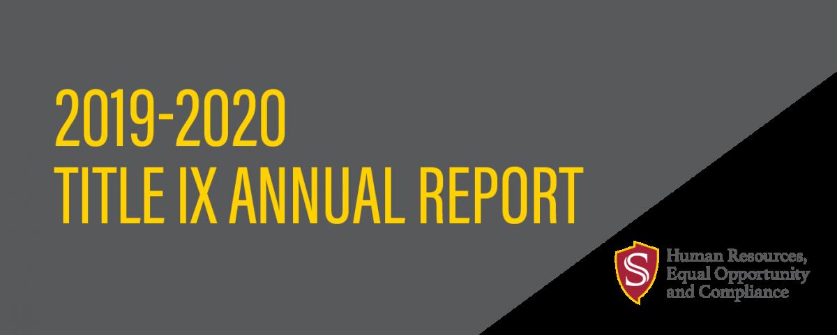 2019-2020 Title IX Annual Report
