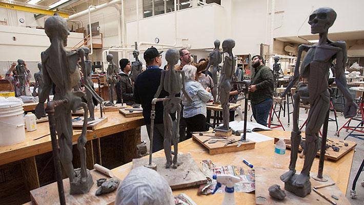 Dan Edward's sculpture class