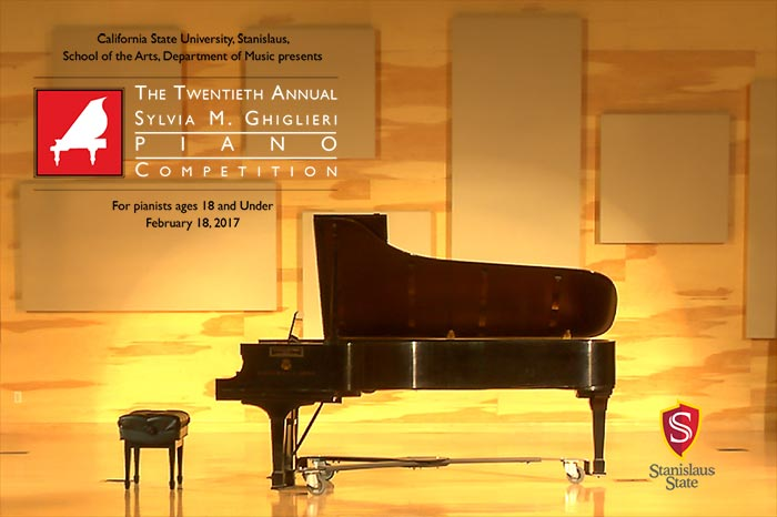 Sylvia M. Ghiglieri Piano Competition piano on stage