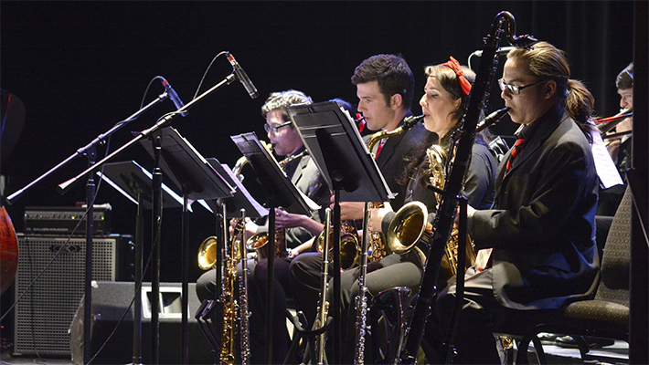 music students in concert