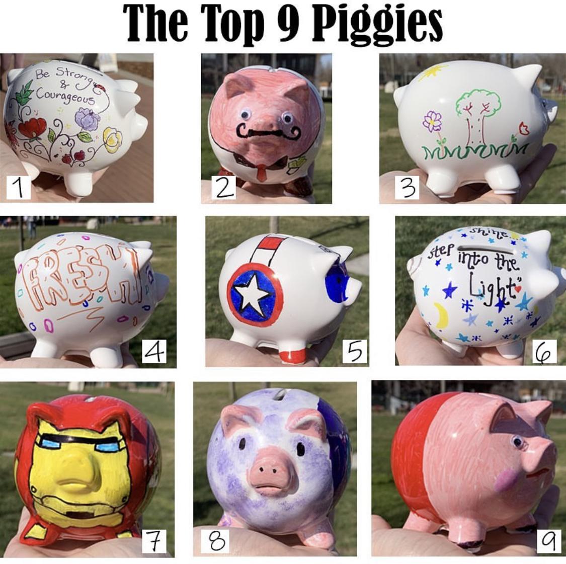 top 9 pigs