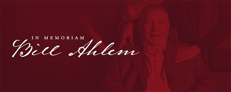 In Memoriam, Bill Ahlem