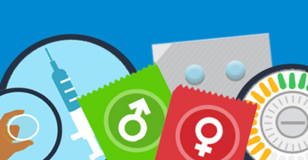 This is an image of various methods of birth control.
