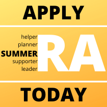 Apply to be a Summer RA Today