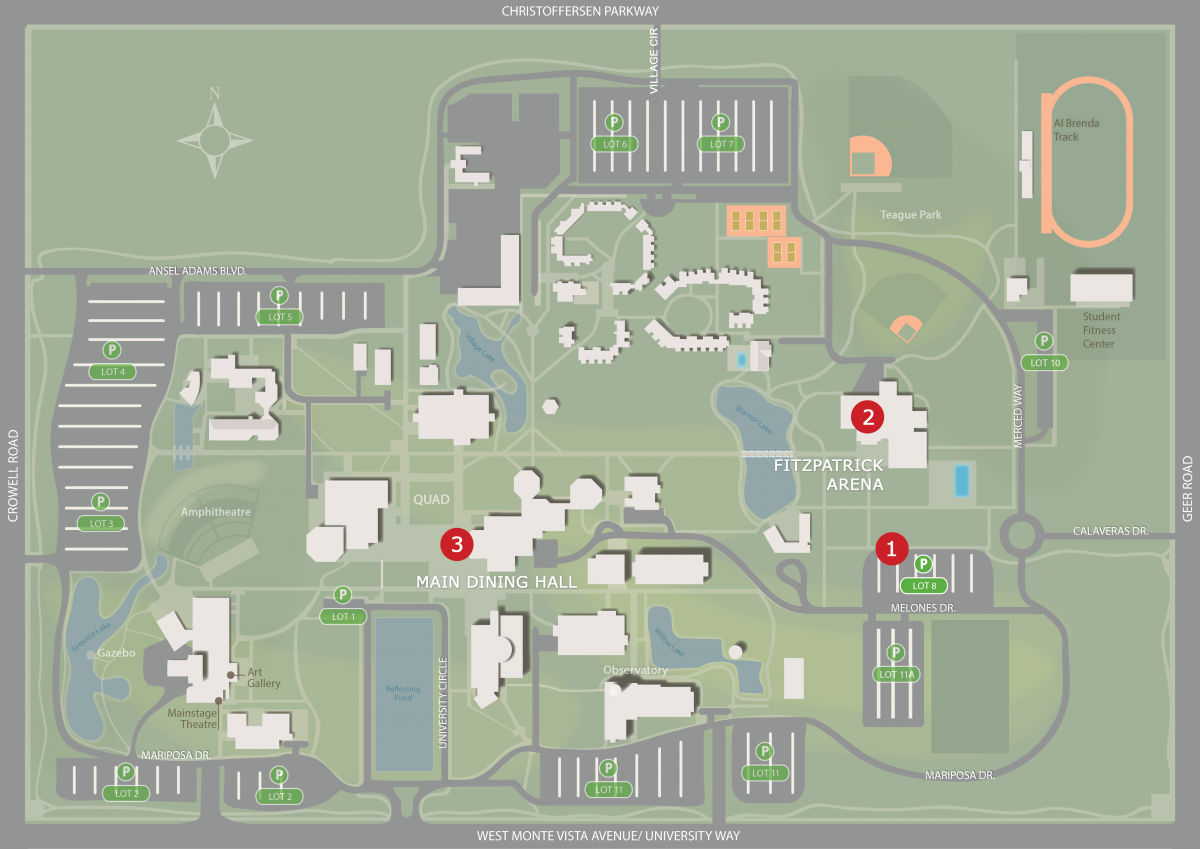 maps parking california state university stanislaus