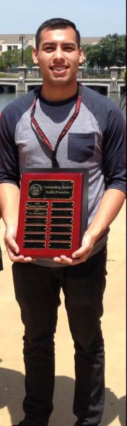 Picture of Bryan Jimenez Outstanding Student Health Promotion