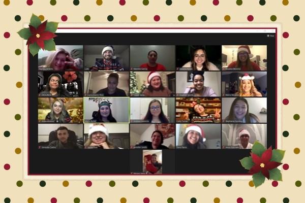 holidays with students on Zoom