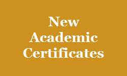 New Academic Certificates