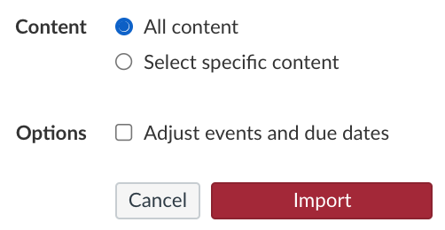 Select all content and click Import