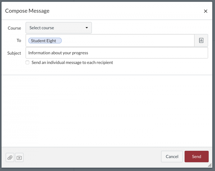 Compose a new message