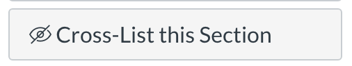 Cross-List this Section button
