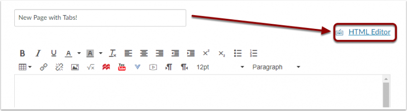 HTML Editor link
