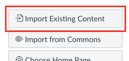 Button to import existing content