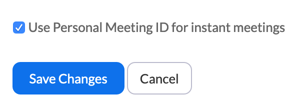 check box for instant meetings