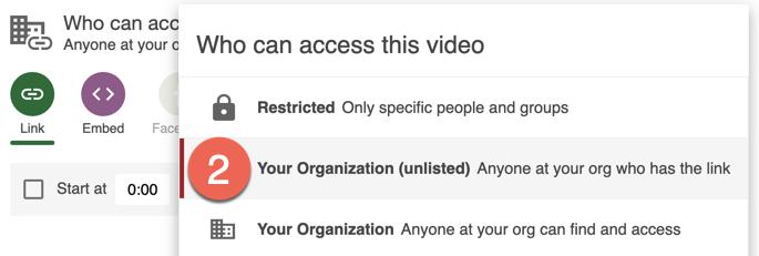 Selecting the organization
