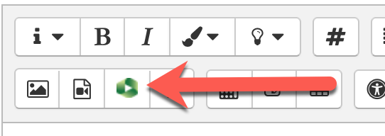 Moodle text editor highlighting Panopto tool