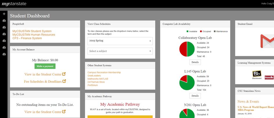 Student Portal Screengrab
